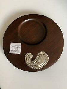 Wine Bottle Coaster With Sterling Silver 950 Accent Free Shipping