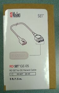 Masimo Rd Set Ge 05 Patient Cable 5 Ft Long Ref 4084 Brand New Never Used