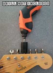Head Attachment Guitar Bass String Winder For Electric Drill  Fast Ship USA