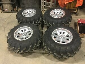 4 kubota Rtv1100 Aluminum Wheels Tires For Kubota Utility Vehicle