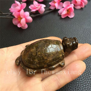 China Antique Collection Old Jade Dragon Turtle Decoration