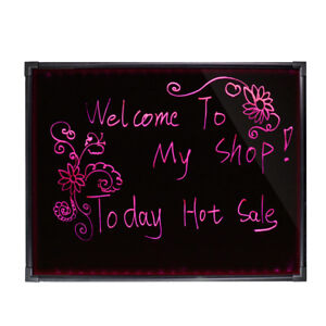 Flashing Illuminated Erasable Neon Led Shop Menu Sign Writing Fluorescen Board