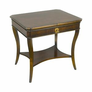 French Empire Style One Drawer 2 Tier Side Table