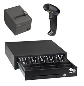 Pos Hardware Bundle For Square Stand Cash Drawer Thermal Receipt Printer And