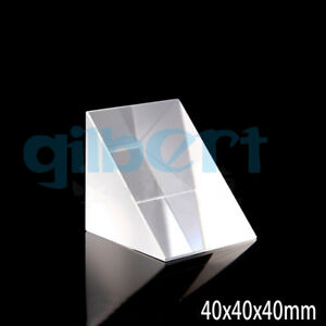 40x40x40mm Optical Glass Prisms Triangular Lsosceles Right Angle K9 Prisms Lens