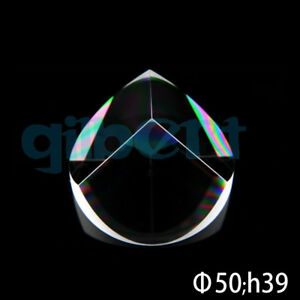 Optical Glass Quartz Pyramid Prism 50mmx39mm Physics Refractor Light Spectrum