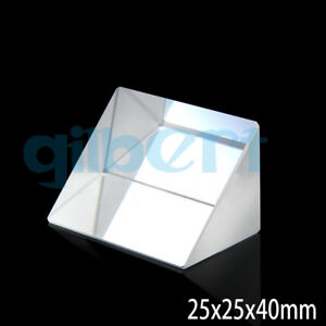 25x25x40mm Optical Glass Prisms Triangular Lsosceles Right Angle K9 Prisms Lens