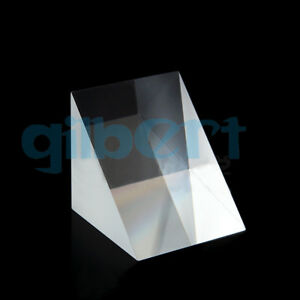 50x50x50mm Optical Glass Triangular Prisms K9 Physics Refractor Light Spectrum