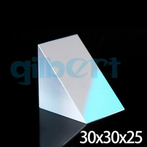 30x30x25mm Optical Glass Triangular Lsosceles K9 Prism With Reflecting Film
