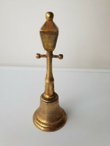 Antique Brass Lamp Post Bell Approx 7 Classic Retro Ornament Collectable Vtg