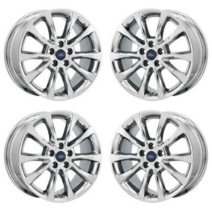 17 Ford Fusion Energi Pvd Chrome Wheels Rims Factory Oem Set 10119 Exchange