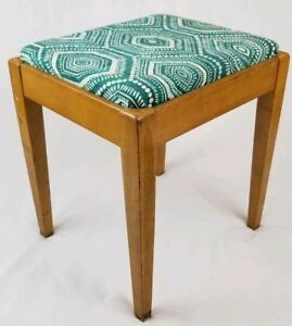 Mid Century Danish Sewing Bench Chair Vanity Seat Stool With Storage Vintage