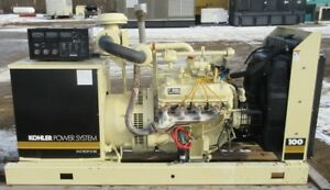 85 Kw Kohler Ford Natural Gas Or Propane Generator Genset Load Bank Tested