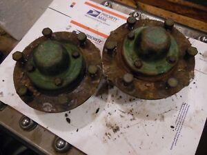 1955 Oliver Super 55 Gas Farm Tractor Front Hubs