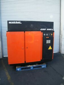 Mattei Rotary Vane Air Compressor Ems600 60 Hp Hydrovane Compair Screw Kaeser