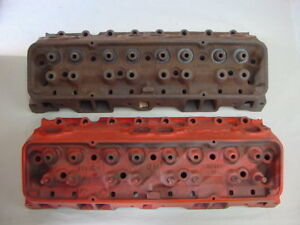 1962 3782461 B232 C222 Cylinder Heads Corvette Chevy Original 62