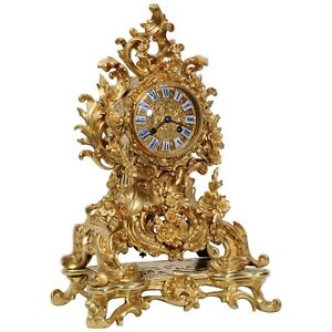 Large Early Japy Freres Antique French Ormolu Rococo Mantel Clock 1 000 Off