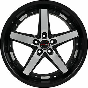 4 Gwg Wheels 18 Inch Black Machined Drift Rims Fits Chevy Monte Carlo 2000 07