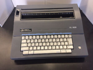 Vintage Smith Corona Sl 500 Electric Portable Typewriter W cover And New Ribbo