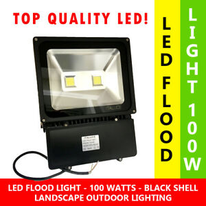 100w Led Flood Light Cool White 5000k Outdoor Security Light Lamp Waterproof