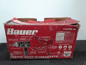 Bauer 23 Ft Auto feed Handheld Electric Drain Cleaner Plumbing Snake Unclogger