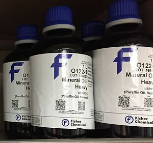 Fisher Chemical Mineral Oil Heavy 1l Lab Grade O122 1