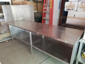 8 Ft Heavy Duty Stainless Steel Prep Table With Shelf Work Cabinet 96 X 30