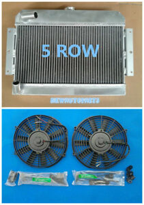 5 Row Aluminum Radiator Fans 1968 1975 For Mgb Gt Roadster Top Fill 71 72 73 74