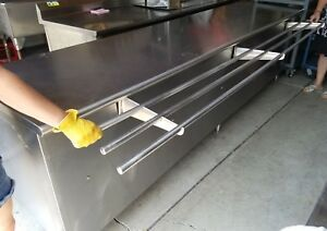 10 Ft Heavy Duty Stainless Steel Prep Table Tray Shelf Work Cabinet 120 X 30
