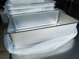 Lot Of 4 Aluminum Spillage Pans Full Size Water Pan Steam Table 6 Deep New