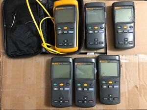 Lot Of Six Fluke 51ii Digital Thermometer