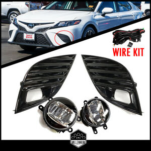 Fog Led Light Set Clear Led With Wire Kit To Toyota Camry Se Xse Years 2018 2019