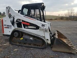 2014 Bobcat T590 Track Machine Skid Loader In Excellent Condition Original Paint