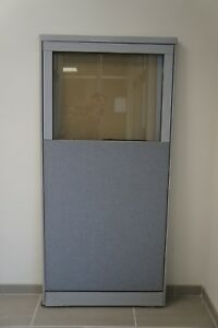 30 1 4 w X 64 h Office Partition Panel With Partial Window steelcase