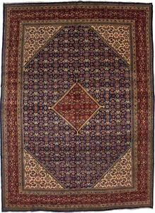 Large S Antique 10x13 Mahal Geometric Persian Rug Oriental Home D C