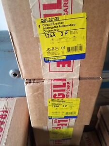 New Square D Qbl32125 Powerpact Q Qb 125 Circuit Breaker 125a 240vac 3 pole
