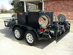 Hot Pressure Power Washing Trailer Custom Built many Available Options