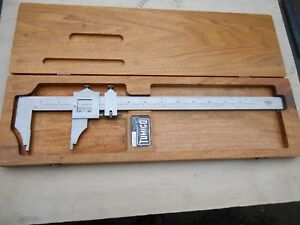 Vintage Tumico Vernier Caliper In Wood Case 0 12 75 12 Large Size