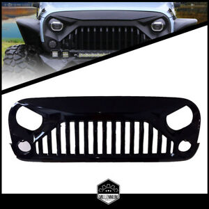 Fit 07 To 18 Jeep Wrangler Gladiator Vader Angry Bird Ii Gloss Black Abs Grille