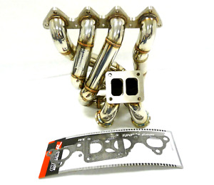 Obx Turbo Header For 1994 01 Integra 99 00 Civic Si B16 18 Top Mount T4