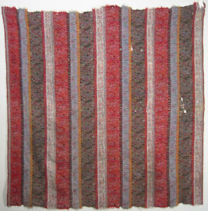 Antique Kashmir Shawl Hand Woven Twill Tapestry Kani Cloth India 5 10x5 10