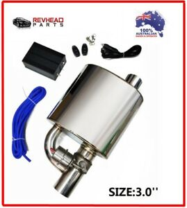 3 Inch Exhaust Muffler With Dump Valve Electric Exhaust Tip Remote Control Set