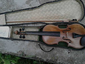 Vintage Old Antique Violin Jacobus Stainer With Bow And Case