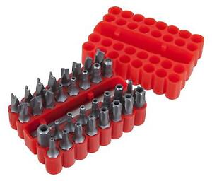 33pc Security Tamper Proof Bit Set Torq Torx Hex Star Spanner Tri Wing Screwdriv