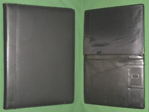 Note Pad 8 5x11 Black Leather Buxton Planner Binder Franklin Covey Monarch 9578