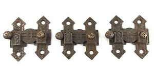 Shutter Latch Cabinet Lever Eastlake Style Antique Lot Of 3