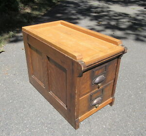 Solid Tiger Oak 2 Drawer Library File Cabinet C1918 Dovetail Construction
