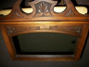 Antique Hand Carved Wooden Framed Wall Mirror Victorian Style Decor Early 1900 S