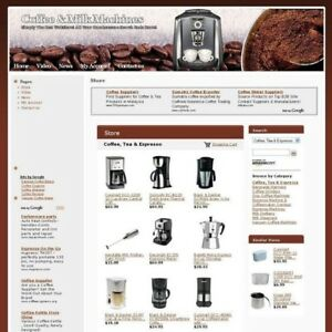 Coffee Milk Machines Online Store Business Website For Sale Free Domain Name