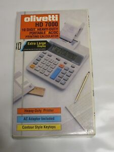 Vintage Olivetti Hd 7000 Printing Calculater With Extra Large Display